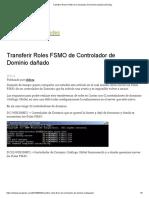 Transferir Roles FSMO de Controlador de Dominio Dañado _ El Deza