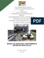 Manual de Operacion y Mantenimiento Pilaya