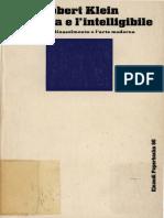 Robert Klein - La Forma e l'Intelligibile - Indice