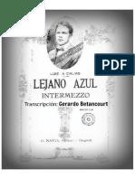 LEJANO AZUL. Intermezzo. Luis A. Calvo. Transc. piano Gerardo Betancourt.