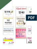Coreano Flash Cards