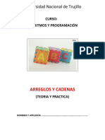 ARREGLO y Cadenas