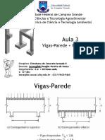 Aula 3 - Vigas-Parede + Reservatórios