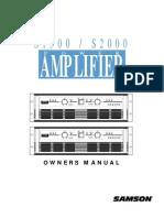 Samson s2000 Manual
