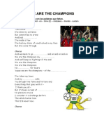 the song we are the champions.docx