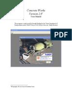 ConcreteWorks V2 User Manual