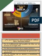 Agosto, Mes de La Biblia»Presentacion