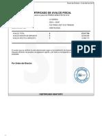 certificado de avalúo