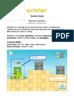 SpriteBox - Teacher's Guide