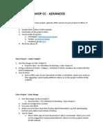 Class Projects - Photoshop Advanced V1.docx