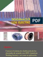 Designación de Los Electrodos