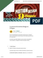 Le process du motion design en 9 étapes