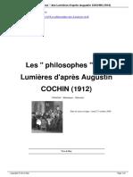 Les Philosophes Des Lumires d'après Augustin Cochin