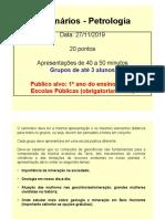 Seminário Petrologia -Minas
