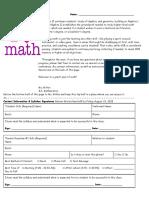 2019 algebra ii syllabus