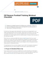 Off Season Football Training Workout Checklist _ Muscle & Strength