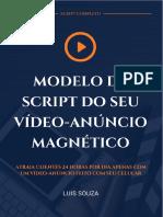 Modelo de Script Do Seu Vídeo Anúncio Magnético