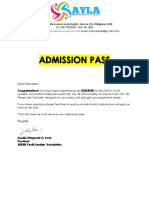 Admission Pass Observer