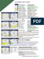 Wellesley 2019-20 School Calendar