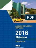 Anuario estadístico Matanzas 2016