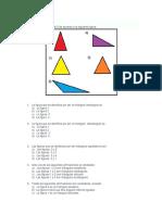 evaluación de triángulos