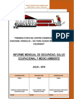 INFORME MENSUAL DE SEGURIDAD, SALUD OCUPACIONAL Y MEDIO AMBIENTE
