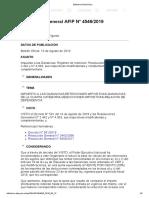Rg 4546-19 Impuesto a Las Ganancias-retenciones Impositivas-ganancias de La Cuarta Categoria-Deducciones Impositivas-relacion de Dependencia
