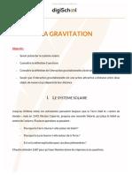 La Gravitation Physique Chimie 3eme