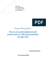 Claudio Zurita. Monografía Chile XIX.