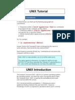 UNIX Tutorial
