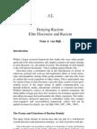 Denying Racism - Elite Discourse and Racism by Teun A. van Dijk