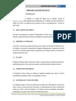 3.1.- Especificaciones Tecnicas Quicapata