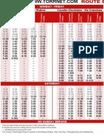 Bus 5 Schedules