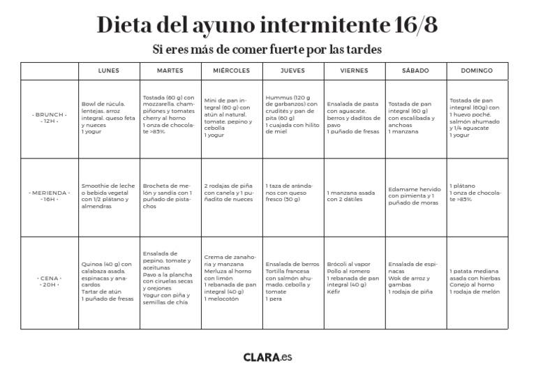 dieta 8/ 16