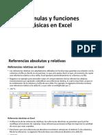 Formulas y Funciones Básicas en Excel