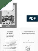 La Posmodernidad (explicada a los niños) - Jean-Francois Lyotard