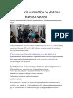 La Negligencia Sistemática de Medimás Que Le Valió Histórica Sanción