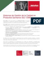 Presentacion Sistemas de Gestion de La Calidad en Productos Sanitarios Iso 13485