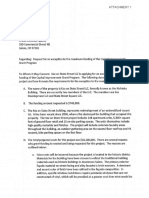Urban Renewal Agency Request Letter