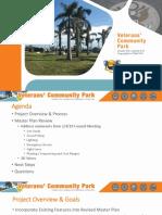 Veterans' Community Park master plan update (2019) - City of Marco Island