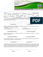 Formato de acta de Matrimonio Honduras