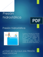 Presión hidrostática