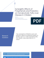 Synergistic Effects of Polyphenols and Probiotics on Nonalcoholic Fatty Liver Disease in Children