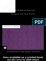 F. Sautet - Entrepreneurial Theory of the Firm (Foundations of the Market Economy Series) (2000)