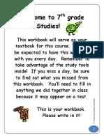 Social Studies Grade 7-Workbook