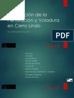 Descripción de Perfo y Voladura en Cerro Lindo (1)