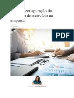 22 - Como Fazer Apuração Do Resultado Do Exercício Na Empresa