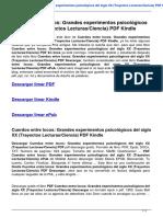 Cuerdos Entre Locos Grandes Experimentos Psicologicos Del Siglo Xx Trayectos Lecturas Ciencia 8484283046