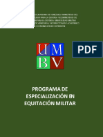 programa de especializacion equitacion militar