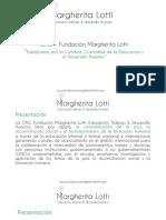 Presentación Fundación Margherita Lotti.
